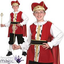 Boys Tudor King Henry VIII Medieval Childrens Fancy Dress Costume Small CC558