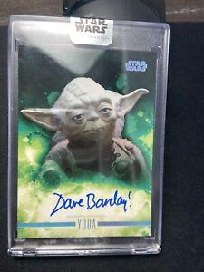DAVE BARCLAY 2019 Topps Star Wars Stellar AUTO Autograph Card YODA #/40