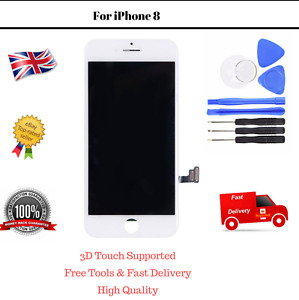 LCD iPhone 8 White Screen Touch Replacement Assembly Digitizer Display and Tools
