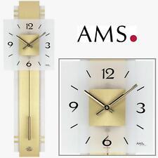 AMS Wanduhr 7301 Quarz Pendeluhr  Wohnzimmeruhr Quarzuhr Quarzwanduhr Uhr