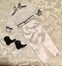 Ken Barbie Doll Fashion Outfit - Dinner Date White Black Jacket Pant Cowboy Boot