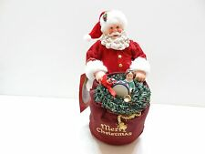 NIB Enesco Dept 56 Possible Dreams Clothtique SANTA'S TOY BAG Figurine 4044433D