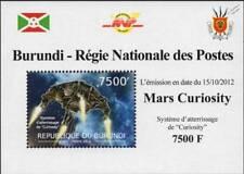 NASA MARS CURIOSITY Exploration Rover Vehicle Space Stamp Sheet #10 2012 Burundi