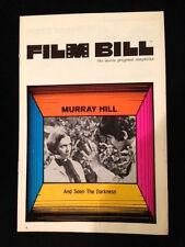 AND SOON THE DARKNESS-ORIGINAL MOVIE PROGRAM-RARE-1970-MYSTERY THRILLER