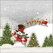 5  x   Paper Napkins for Decoupage Happy Holidays Napkin Art