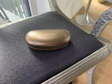 Gucci Brillenetui golden bronze Putztuch Sonnenbrillen Box Hartschale