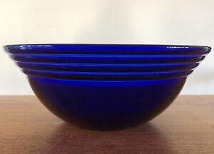 """Vintage France 8"""" Cobalt Blue Glass Serving Bowl Dish EUC! Estate Item"""