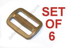 "SET OF 6 ITW Nexus 1"" Tri glide Sliplock Strap Adjust TAN Military Buckle Sling"