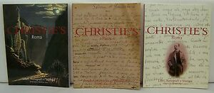 Lot of 3 Christie's Important Books and Manuscripts Auction Catalogs 9