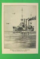 UM2) Marine S.M.S. STUTTGART als Flugzeugträger 1914-1918 Kriegsschiff 1.WK WWI