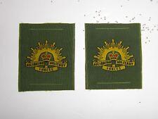 b0063p Australian Australia Army Vietnam era sleeve emblems pair IR17B