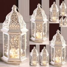 "10 Large Distressed Lantern Moroccan Candleholder Wedding Centerpieces 16"" Tall"
