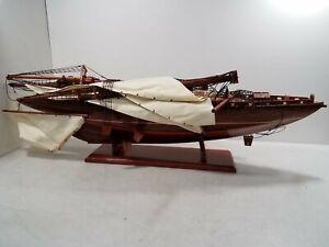 Handmade Wooden Model Ship ND