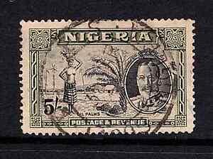 Nigeria 1936 KGV 5/- Black & Olive Green SG 43 Cat £60 Used