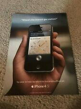 Vintage 2011 APPLE iPHONE 4S Poster Print Ad Art *1ST ONE w/ SIRI INTEGRATED*
