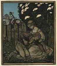 Der GEMORDETE LIEBSTE - Rudolf SCHIESTL 1910 FarbZinkätzung des JUGENDSTIL