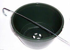 1 - 10 inch Green Plastic Hanging Basket / Pot Made in USA