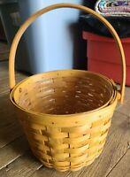 😍  Longaberger Fruit Basket 1996 w/ Plastic Liner Swivel Handle w/Card  NICE 💖