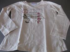 Shirt T-Shirt Pulcino Gr. 128 apricot Langarm, Flower Spruch, top,  sehr schön