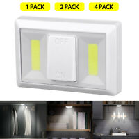 COB LED Cordless Magnetic Battery Operated Lamp Switch Convenient Night Light