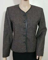 PENDLETON Petite Wool blend Blazer Jacket Black/Tan Women's Size 4P EUC