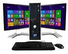 "hp or Dell Desktop PC Computer Dual Core 4GB RAM DUAL 19"" LCDs WiFi Windows 10"