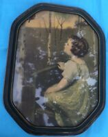 Spring Song after Simon Glucklich Color Rotogravure in Period Carved Frame