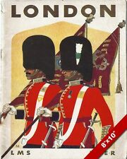 VINTAGE 1930S LONDON ENGLAND TOURISM QUEENS GUARD POSTER ART REAL CANVAS PRINT