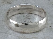 925 STERLING SILVER 6MM HAMMERED BAND RING size 8  style# r2409