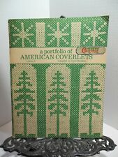 A Portfolio Of American Coverlets Volume 4 Weaving Patterns Whig Rose Variations
