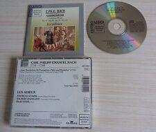 RARE CD CLASSIQUE C. PH. E. BACH CHAMBER MUSIC KAMMERMUSIK LES ADIEUX 1988