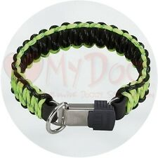 Herm Sprenger Black and Yellow Reflecting Paracord Dog Collar