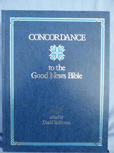 Concordance to the Good News Bible by David Robinson  hardback
