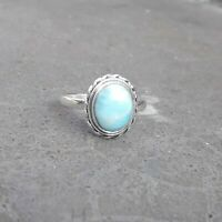 Larimar Solid 925 Sterling Silver Anxiety Ring Meditation Ring SR020