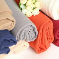 Solid Cotton Linen Fabric Natural Flax DIY Material Costume Upholstery 100X137CM