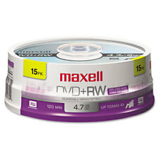 Maxell DVD+RW Discs 4.7GB 4x Spindle Silver 15/Pack 634046
