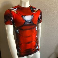 UNDER ARMOUR Iron Man Compression Shirt Alter Ego 1273694 625 Mens Size Large