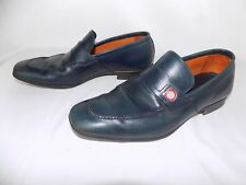 Salvatore Ferragamo Blue Leather Shoes Loafers Women's 6.5 EE Made in Italy