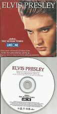 ELVIS PRESLEY 4TRX w/ ENHACED VIDEO EUROPE NEWSPAPER PROMO CD 2001 USA seller