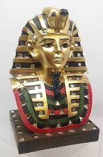 "ANCIENT EGYPTIAN PHARAOH KING TUT BUST MASK 6"" SCULPTURE TUTANKHAMUN FIGURINE"