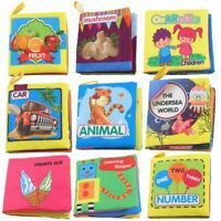 Paquet de 9 - Tissu Non Toxique Livres En Tissu pour Bebe Jouets D'Educatio O1T7
