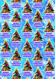 SPIDERMAN Personalised Christmas Gift Wrap - Super Mario Wrapping Paper