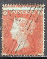 1854 Sg 17 1d red-brown Large Misperf Fine Used