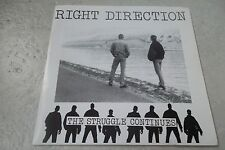 RIGHT DIRECTION  THE STRUGGLE CONTINUES 45 EP BLUE VINYL DUTCH