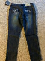 Dereon Women's Silver Embroidered Boot Cut Jeans 11/12 Beyonce's Obsessed