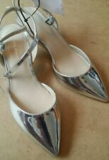 Marc Fisher Caly 2 Slingback shoes In Silver Size 3.5 UK 5.5M US QVC