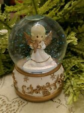 Snow Globe Christmas Angel Precious Moments Angels We Have Heard Musical Water