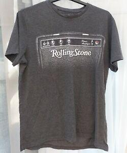 ROLLING STONE Amplifier Logo T-Shirt (2015) GREY (Size L)