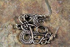Wikinger Brosche Midgardschlange Bronze Fibel Wikingerschmuck Drache