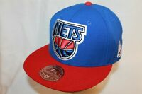 Brooklyn New Jersey Nets Fitted Hat Cap The Blue by Mitchell & Ness